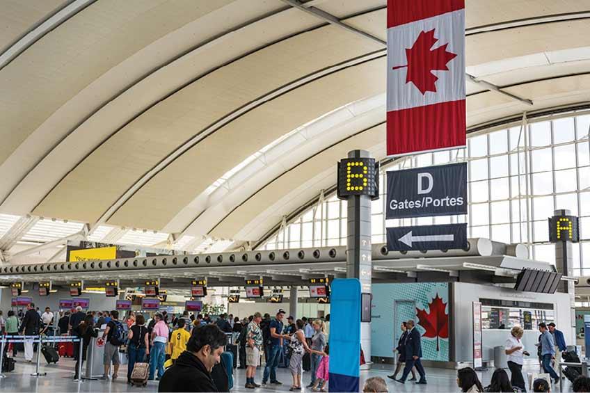 قرنطینه مسافران در کانادا