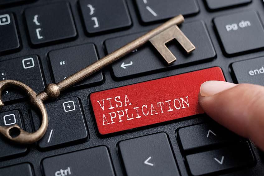درخواست ویزای موقت