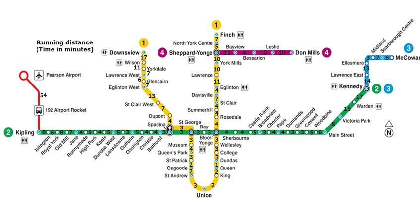 نقشه متروی تورنتو