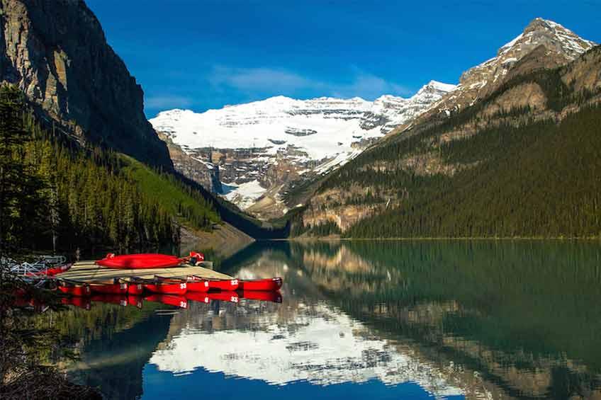 دریاچه louise کانادا